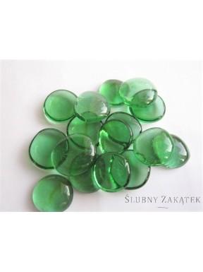 Kamyki szklane, zielone 3 cm