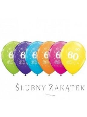 Balony na 60 urodziny