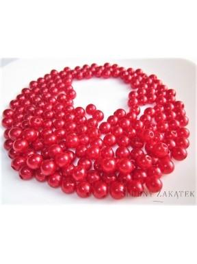 Perełki do dekoracji, czerwone 7 mm