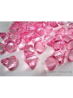 Kryształowe diamenciki, różowe