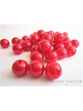 Perełki do dekoracji, czerwone małe