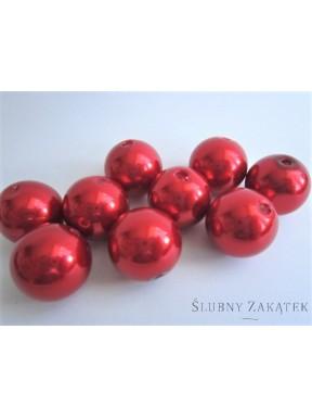 Perełki do dekoracji, czerwone 18 mm