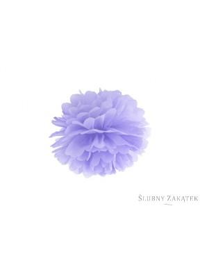 Pompon bibułowy, jasna lilia