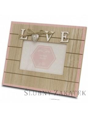 Ramka drewniana LOVE