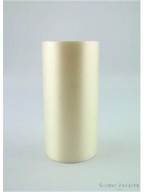 Wstążka pastelowa 7m, kremowa