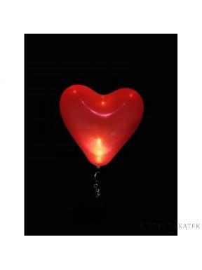 Balony LED SERCE CZERWONE 5 szt.