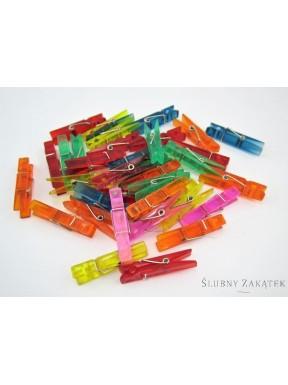 Spinacze małe, mix kolorów