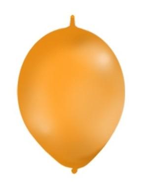 Balony z łącznikiem, pastel pomarańczowe