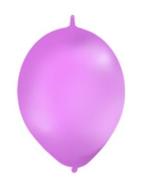 Balony z łącznikiem, pastel fioletowe