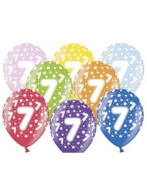 Balony na 7 urodziny