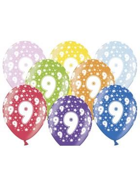 Balony na 9 urodziny