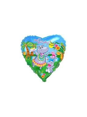 Balon foliowy Urodziny Hipopotama