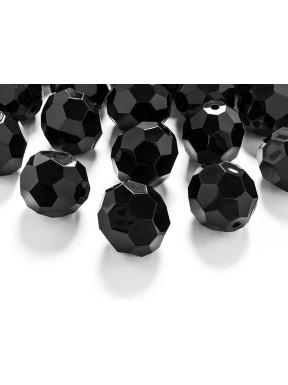 Kryształowe koraliki czarne, 15 szt