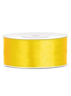 TASIEMKA SATYNOWA  25mm 25m, żółta