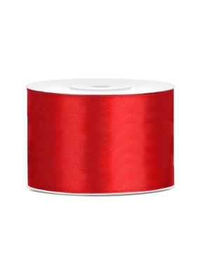 TASIEMKA SATYNOWA 50mm 25m, czerwona