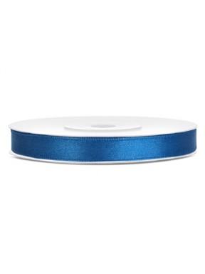 TASIEMKA SATYNOWA 6mm 25m, niebieska