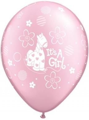 """BALON  """"It's a girl"""" metalik"""