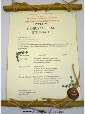 DYPLOM Geniusza SEXU
