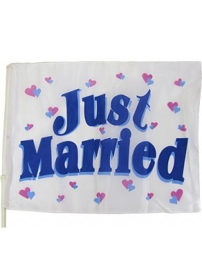 FLAGA DO DEKORACJI SAMOCHODU Just Married