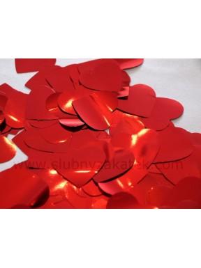 Konfetti serduszka czerwone 30