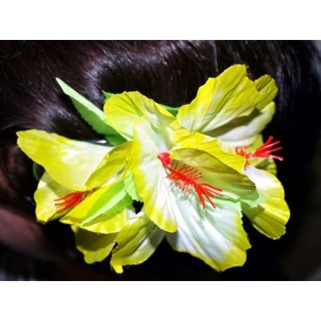 OZDOBA DO WŁOSÓW Przypinka hawajska, żółta