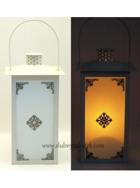 LATARENKA - LAMPION Belle, kremowa