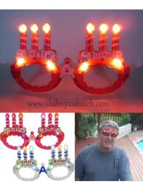 """OKULARY ŚWIECĄCE """"Happy Birthday"""""""