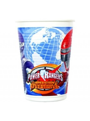 KUBECZKI PLASTIKOWE Power Rangers, 8 szt