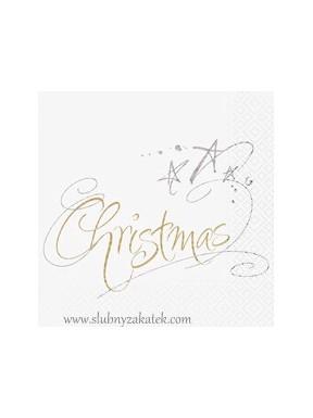 SERWETKI PAPIEROWE Christmas, białe