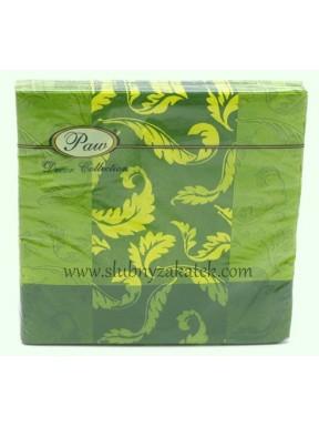 SERWETKI PAPIEROWE Listki, zielone