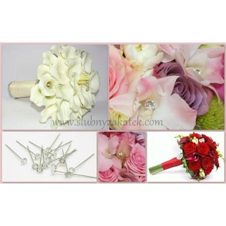 Szpilki Dekoracyjne Kryształki Akcesoria Florystyczne ślubny Zakątek