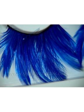 Sztuczne rzęsy z piórek w kolorze niebieskim