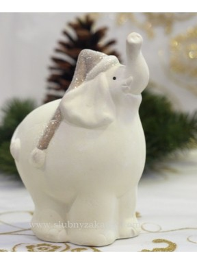 FIGURKA Słonik świąteczny