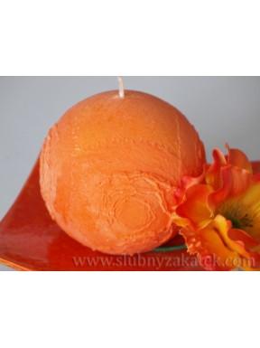 ŚWIECZKA KULA Wulkan, pomarańczowa
