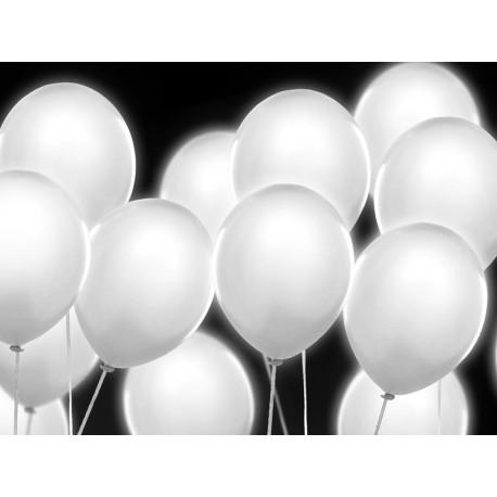 BALONY ŚWIECĄCE LED białe, 4 szt