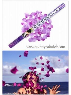 Tuba BIG fioletowe płatki róż