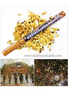 Tuba 60 złote konfetti