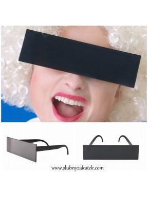 Okulary czarny pasek DO SESJI