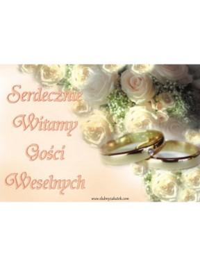 Plakat weselny 17