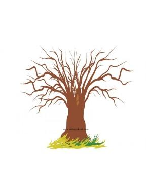 Plakat / księga gości - drzewo bez liści