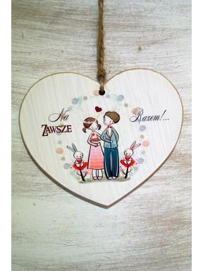 Tabliczka serce - na zawsze razem
