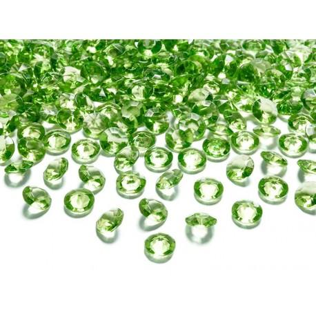 DIAMENTOWE KONFETTI j. zielone, 100 szt