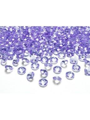DIAMENTOWE KONFETTI liliowe,100 szt