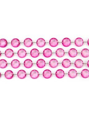 GIRLANDA KRYSZTAŁOWA 01, różowa