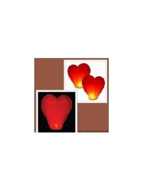 LAMPION LATAJĄCY Serce Czerwone