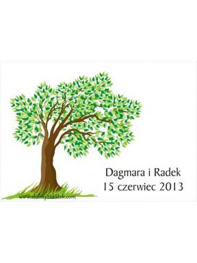 """KSIĘGA GOŚCI - PLAKAT """"Drzewo"""""""