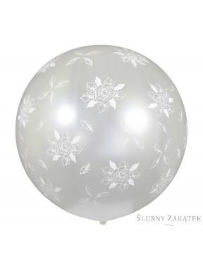 Balon Róże Białe