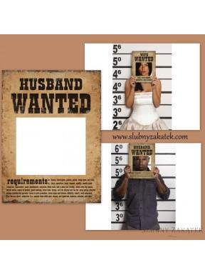 Mąż i Żona POSZUKIWANI Plakaty
