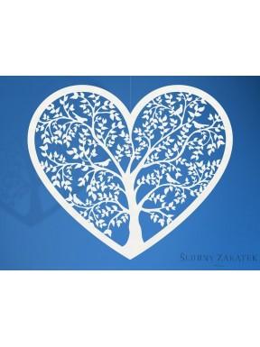 Dekoracja papierowa Serce