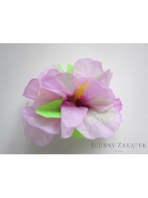 Przypinka hawajska różowa